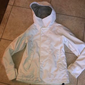 Burton white ski jacket snowboarding small